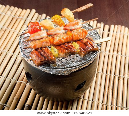 Japanese Skewered  Seafoods
