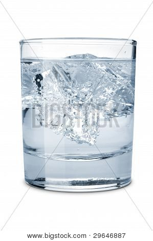 Water With Ice In The Glass