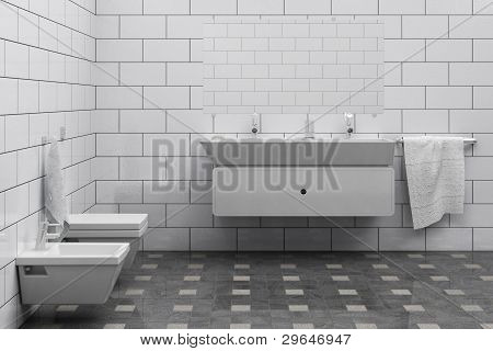 cheap simple bathroom interior