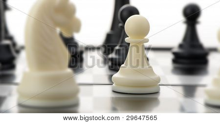 White Chess Pawn