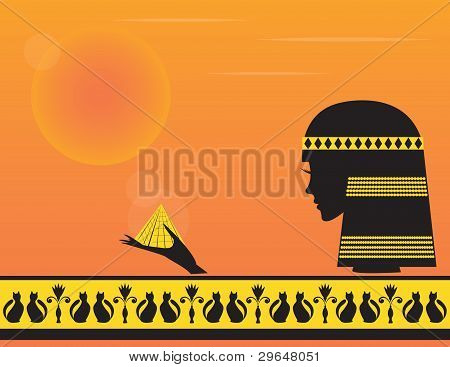Vector ilustrado Cleopatra