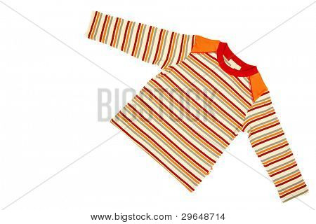 Children's wear - striped shirt isolated over white background