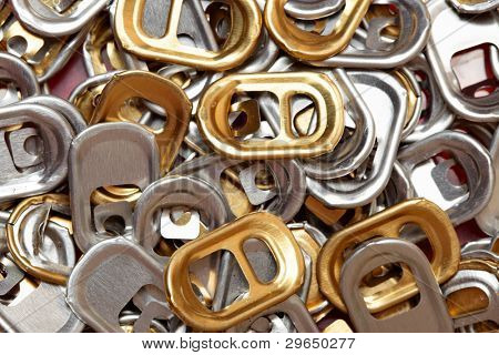 Plenty of ring-pulls, may be used as background