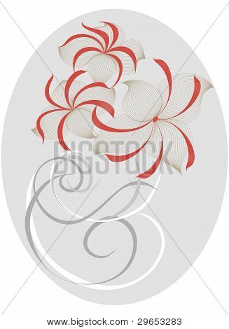 Un elegante ramo de flores a la estilizada