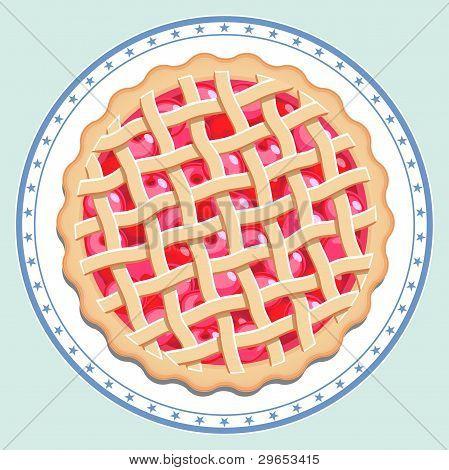 Cherry Pie auf einem Teller