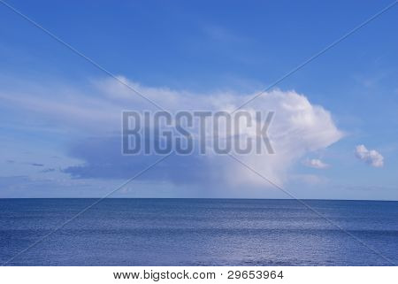 Cumulus cloud over the sea, Ireland