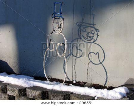 A Snowman's Shadow