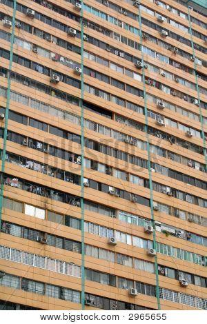Overcrowding Cramped Quarters In A Slum Poverty Area