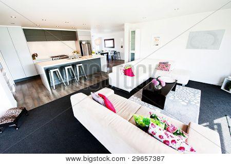 Foto aus einem modernen Interieur Designer Wohnzimmer