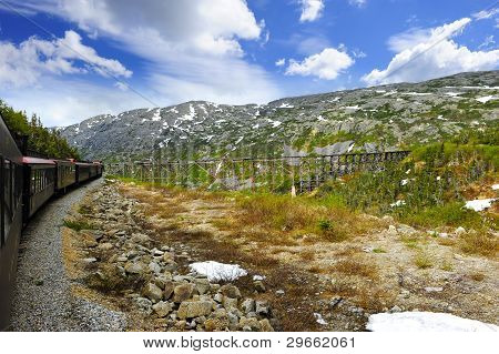 Train From Skagway To White Pass