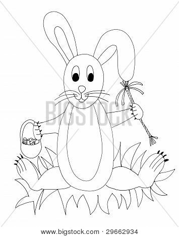 Hand Drawn Easter Rabbit