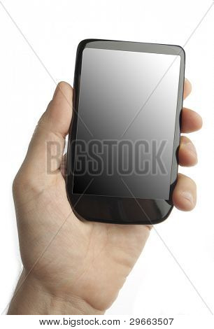 Cell phone in male hand (original design)