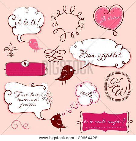 Burbujas de discurso en estilo francés