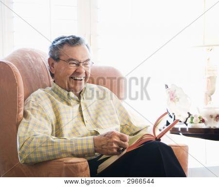 Mature Man Reading.