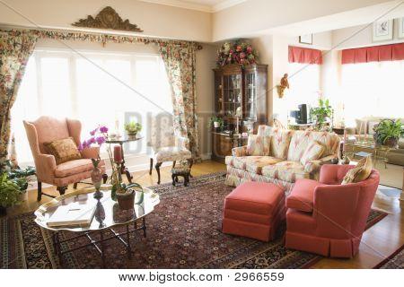 Interior Shot Of Living Room.