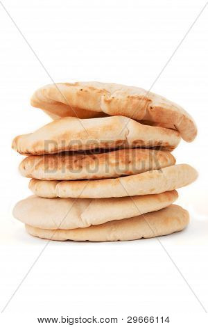 Piled Up Pita Bread