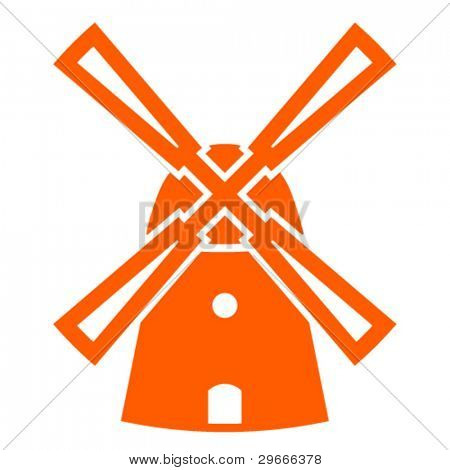 Vector windmill sign.