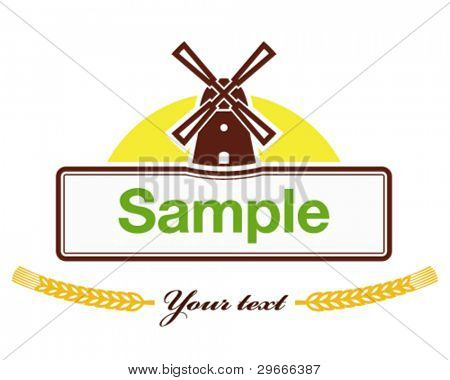Label for the products of agro-based company.