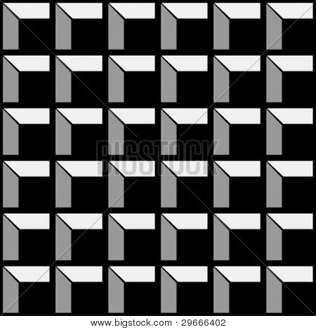 Building foundation vector pattern background. Black.