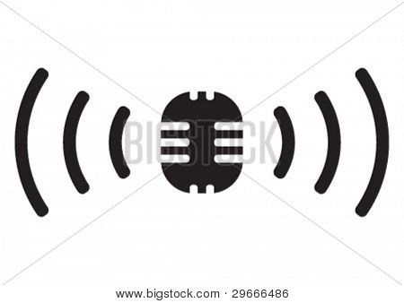 Vektor-Rundfunk-Symbol.