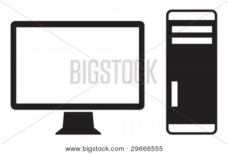 Vector icon of high-end computer.