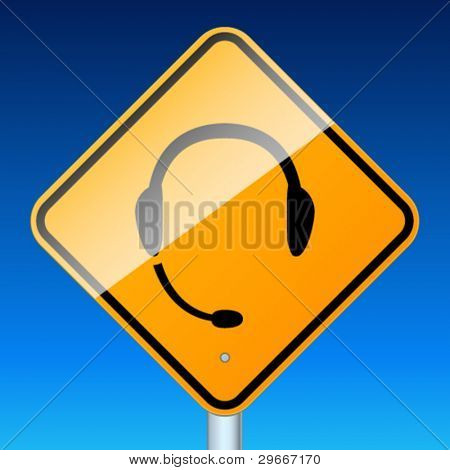 Use handsfree. High-detailed vector sign