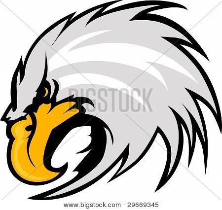 Eagle Mascot Head Vector Graphic