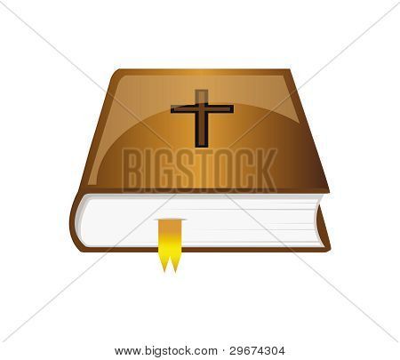 Vector Bible With Bookmark