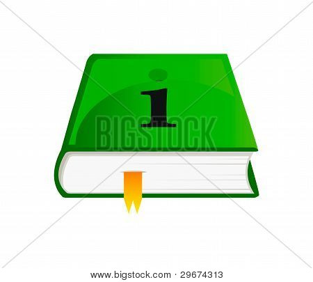Vector Icon Of Information Book