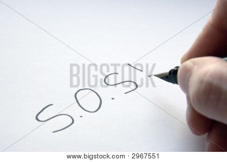 A Note Saying Sos