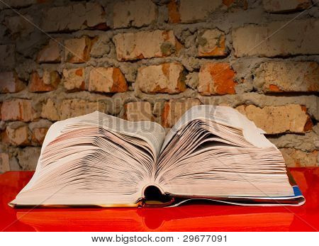 Open Book Laying On The Table
