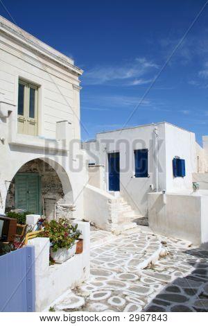 Typical Greek Island Homes - Paros Island, Greece