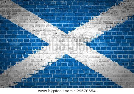 Brick Wall Scotland Saltire