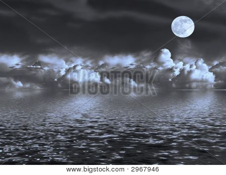 Moon Seascape