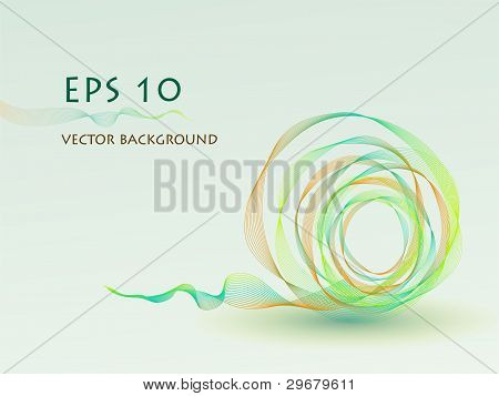Vector Abstract Green Ball  Background