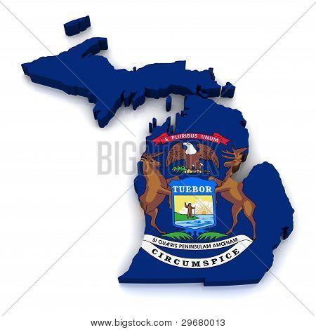 3D Map of Michigan