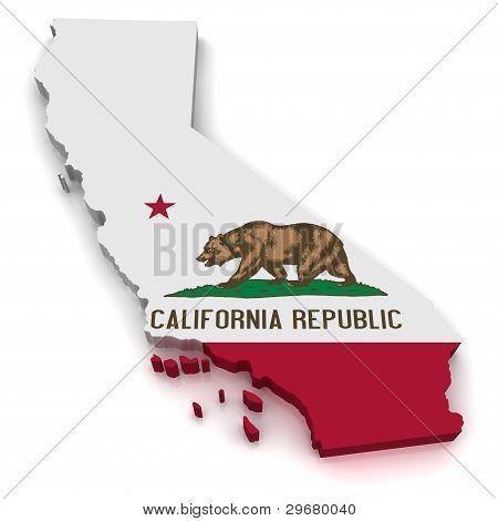 3D Map of California