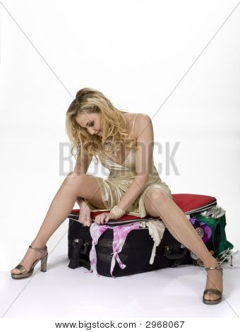 Woman With Suitcase Problem
