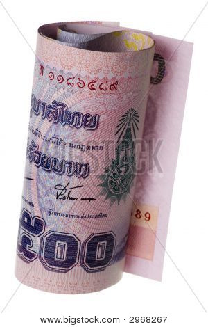 Thai Currency Rolled