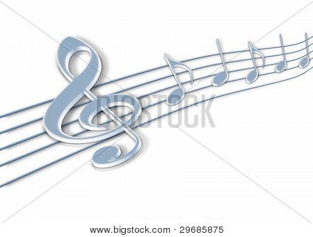 notas de música 3d