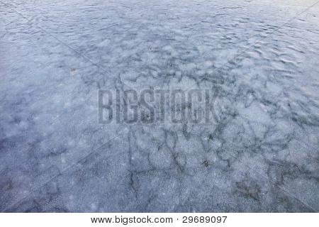Ice On Frozen Lake