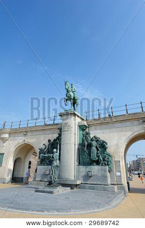 Statue von König Leopold Ii von Belgien.