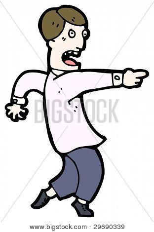 homem de Cartum acusando (versão raster)