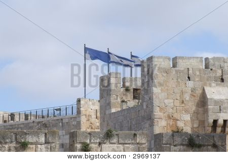 Israeli Flags Over Jerusalem