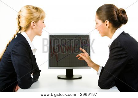Pointing At Monitor