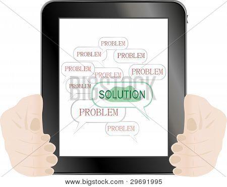 Las soluciones de la palabra en Tablet Pc