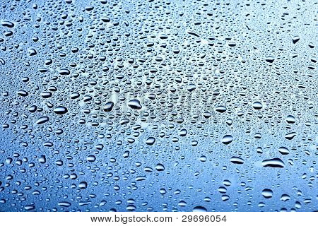 Steel Blue Water Drops