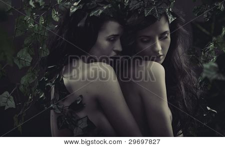 Hugging women