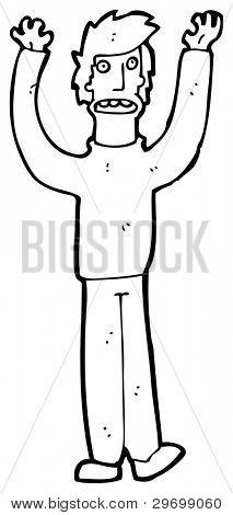 exasperated man cartoon (raster version)