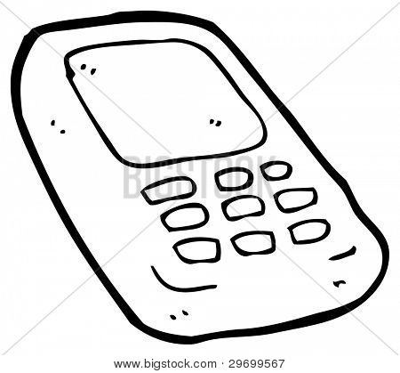 mobile phone cartoon (raster version)